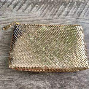 Vintage Gold Metal Mesh Clutch Evening Bag